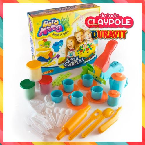 juego de masas infantiles feliz cumple c/accesorios duravit