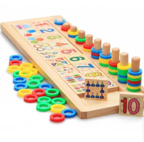 Juego De Matematicas Domino Didactico Divertido Montessori
