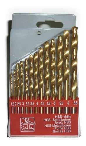 juego de mechas de calidad hss para metal 13 piezas