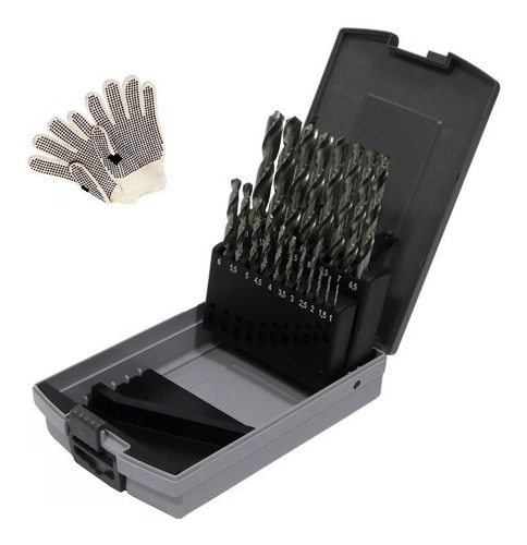 juego de mechas ezeta 19 piezas acero rapido uso industrial