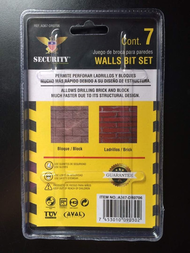 juego de mechas o brocas para paredes concreto tienda -