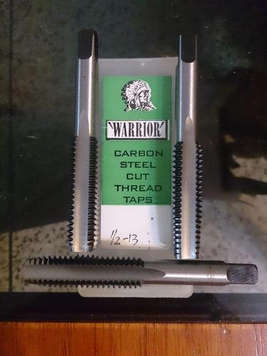 juego de mechas rosca gruesa (macho) marca warrior 1/2-13