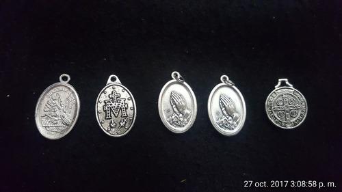 juego de medallitas de bendición y protección