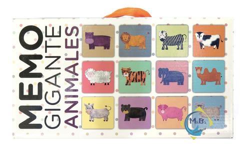 juego de memoria gigante memotest animales clap niños