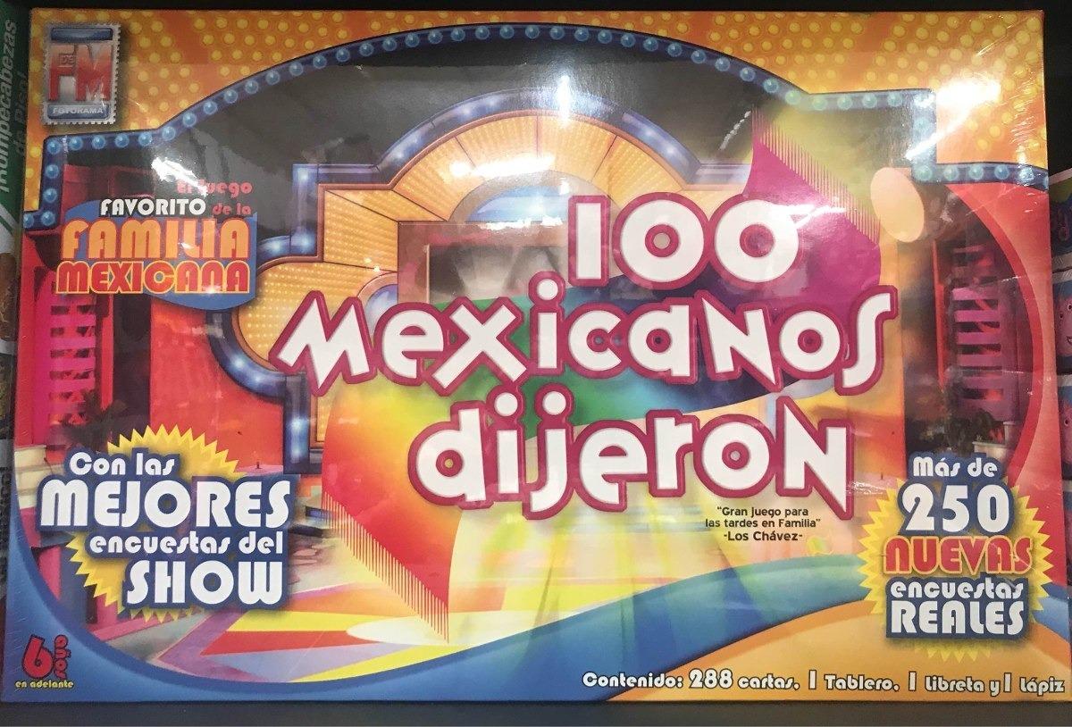Juego De Mesa 100 Mexicanos Dijeron 692 00 En Mercado Libre