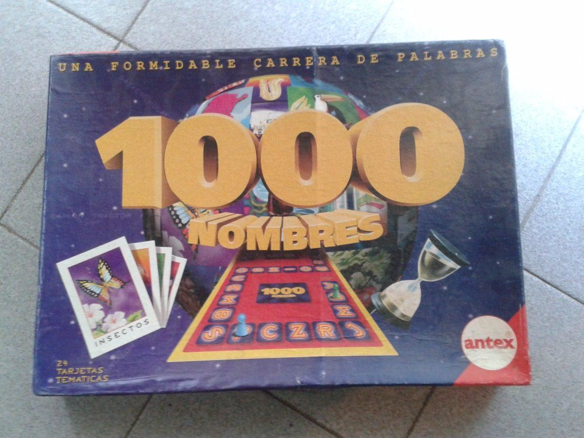 Juego De Mesa 1000 Nombres Antex 250 00 En Mercado Libre