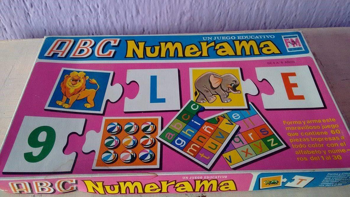Juego De Mesa Abc Numerama Educativo Fotorama De Mexico 80