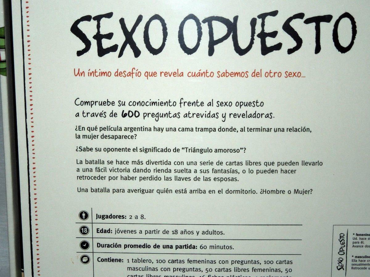 Juego De Mesa Adultos Sexo Opuesto Envio Gratis 700 00 En