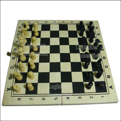 juego de mesa ajedrez tablero estuche madera
