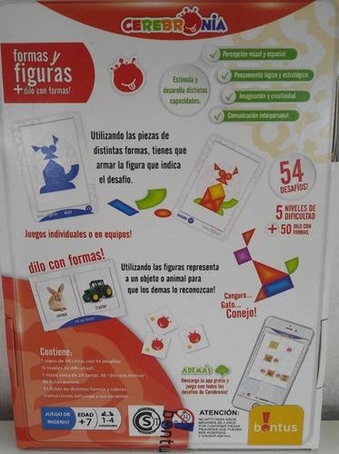 juego de mesa cerebronia formas y figuras bontus july toys
