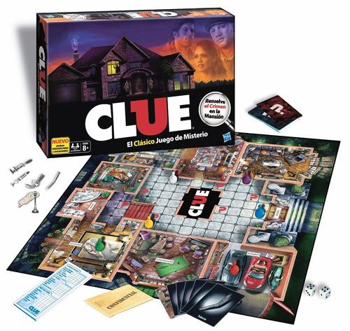 juego de mesa clue original hasbro (3676)