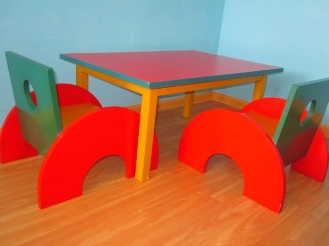 Juego de mesa con 2 sillas para ni os dise o original s 150 00 en mercado libre - Juego de mesa y sillas para ninos ...