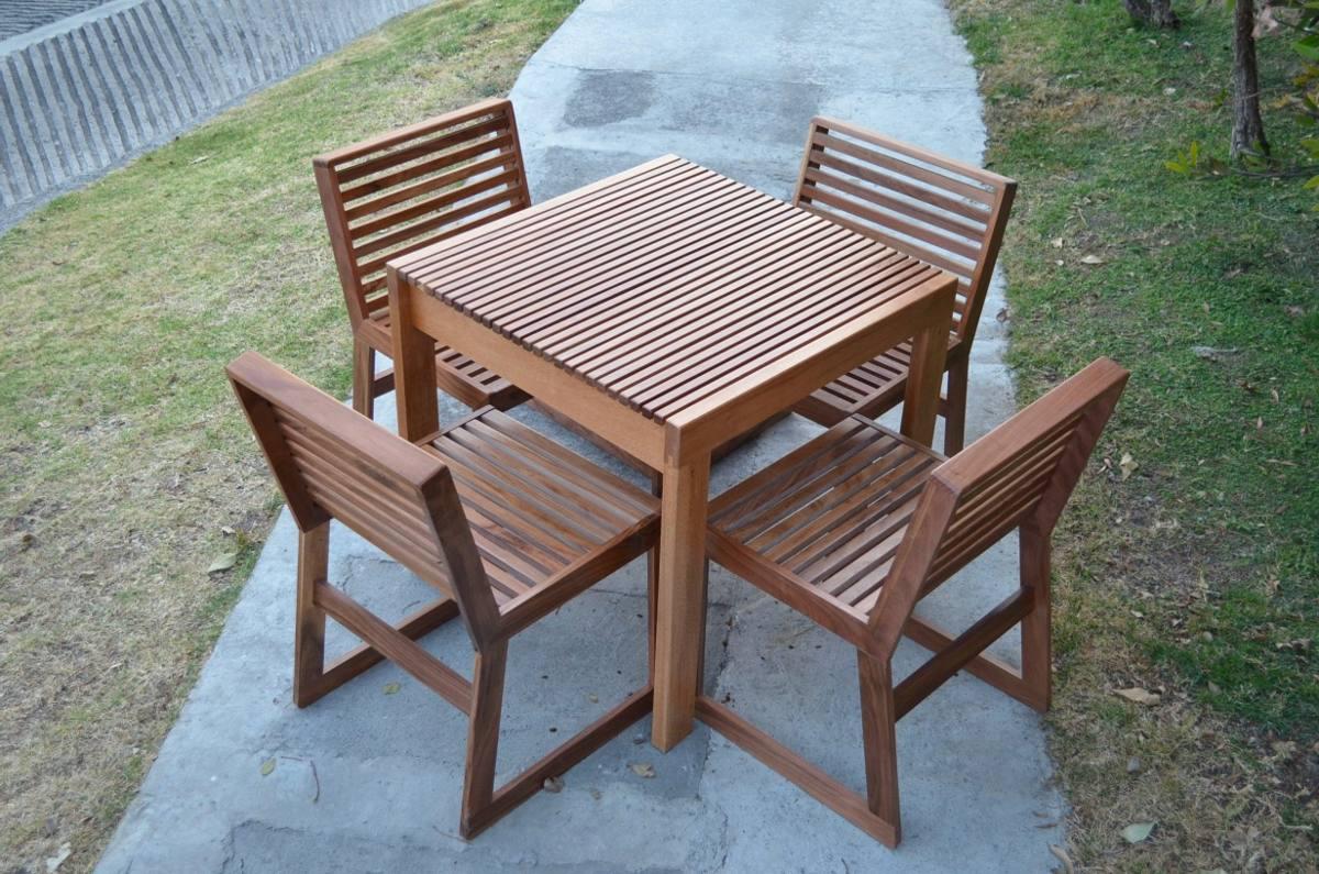 Juego de mesa con silla para exterior 12 en for Sillas para exterior
