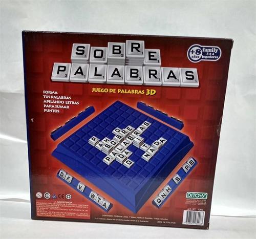 juego de mesa crucigrama sobre palabras ditoys scrabelle