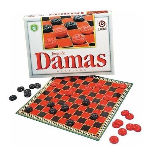 juego de mesa damas clasico linea green box original ruibal