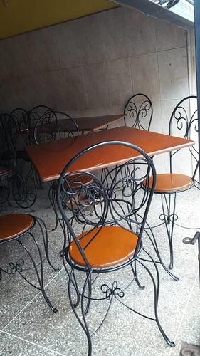juego de mesa de 4 sillas