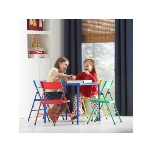 juego de mesa de cosco silla plegable de 5 piezas de kid y