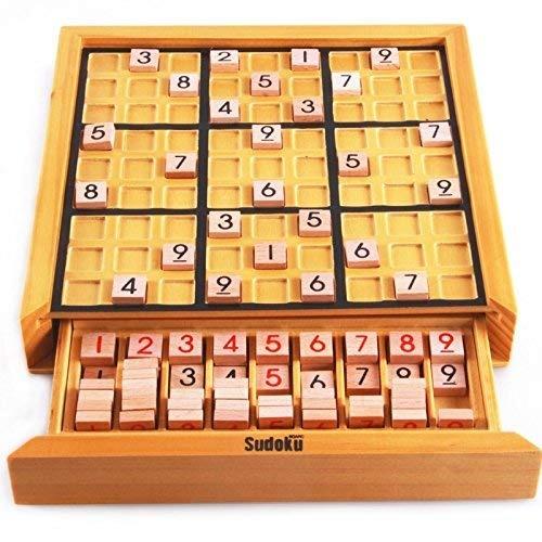 Juego De Mesa De Madera Para Adultos Sudoku Puzzle Juego