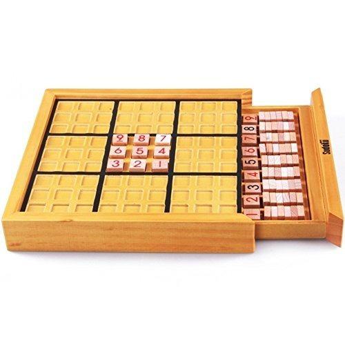 Juego De Mesa De Madera Para Adultos Sudoku Puzzle Juego Jun