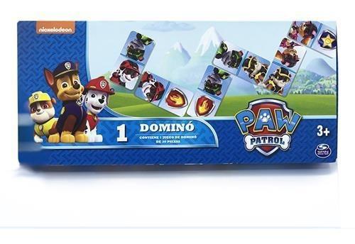 juego de mesa domino paw patrol con caja caffaro 30 piezas