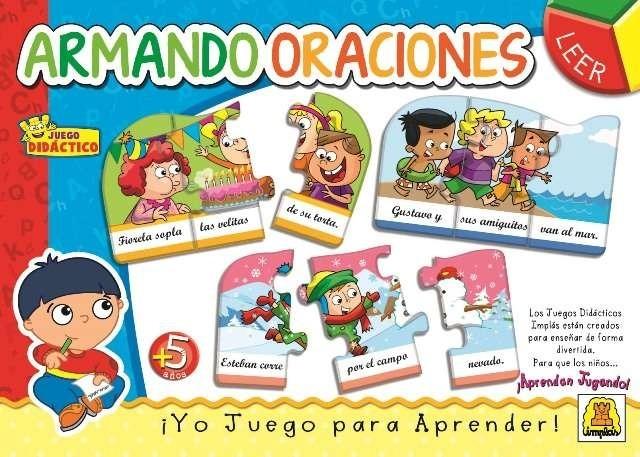 Juego De Mesa Educativo Armando Oraciones De Implas 219 90 En