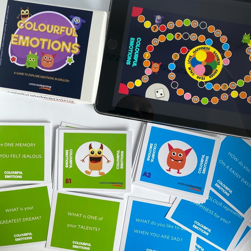juego de mesa educativo en inglés colourful emotions