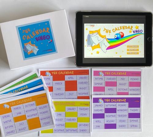 juego de mesa educativo en inglés the calendar el calendario