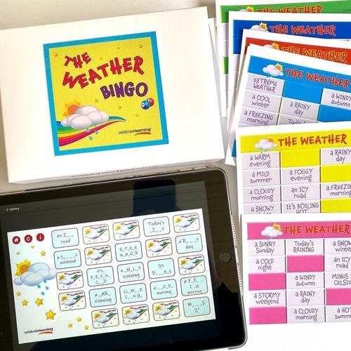 juego de mesa educativo en inglés the weather el tiempo