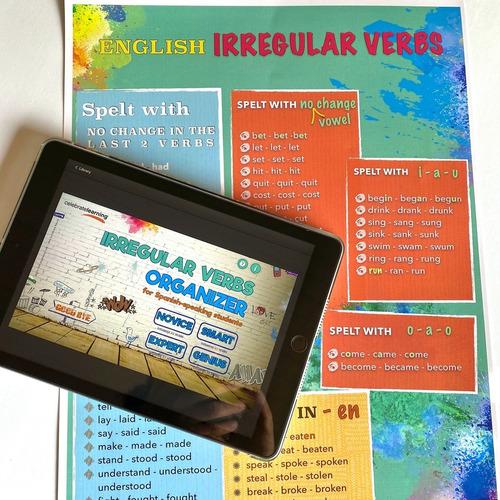 juego de mesa en inglés organizador de verbos irregulares