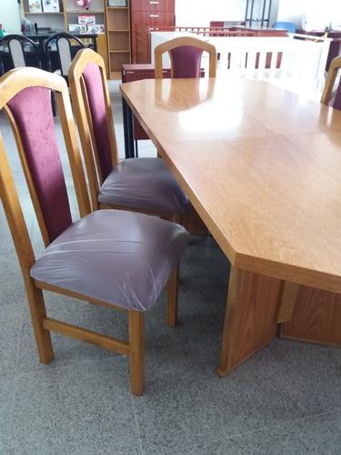 juego de mesa extensible mas 6 sillas de comedor
