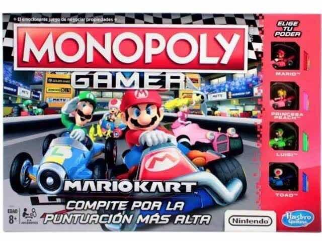 Juego De Mesa Hasbro Monopoly Gamer Mario Kart En Espanol 599 00
