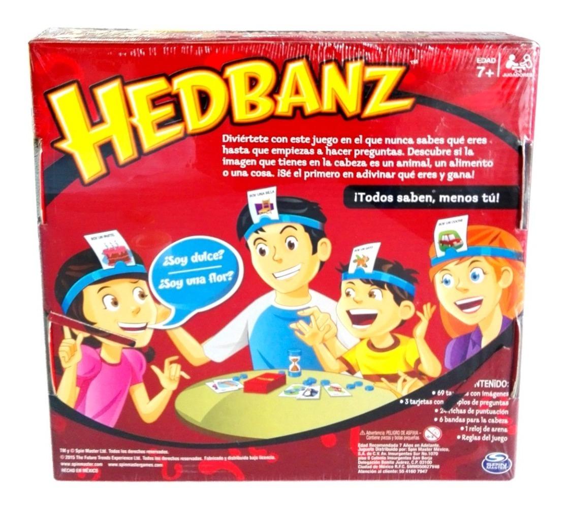 Juego de tarjetas de juego de adivinanzas SPINMASTER Hedbanz