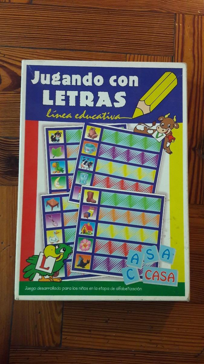 Juego De Mesa Jugando Con Letras Para Ninos 125 00 En Mercado Libre
