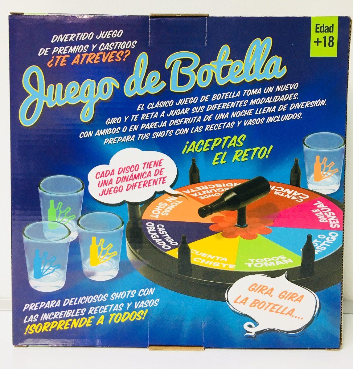 Juego De Mesa La Botella Para Tomar Adultos 18 Con 4 Shots