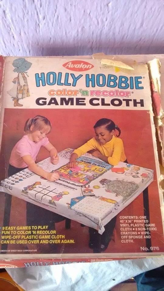 Juego De Mesa Mantel Para Colorear Holly Hobbie Avalon 1979 45000