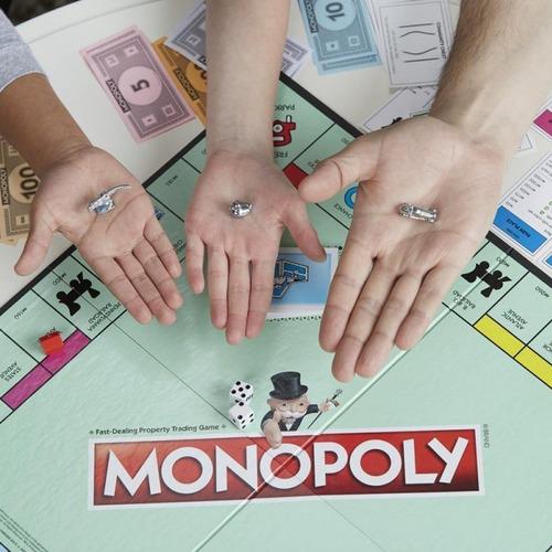 juego de mesa monopoly clásico piezas metálicas hasbro