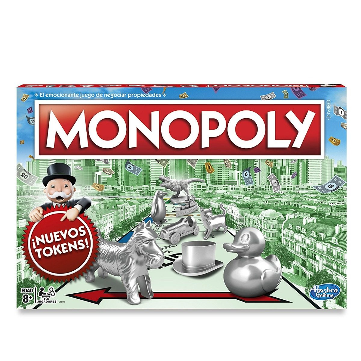 Juego De Mesa Monopoly Clasico Tokens Nuevos En Espanol 435 00