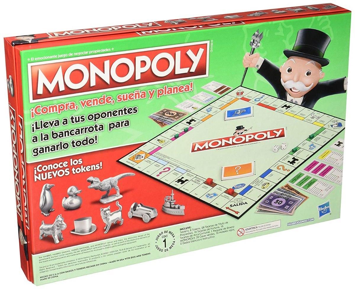 Juego De Mesa Monopoly Clasico Tokens Nuevos En Espanol 509 00