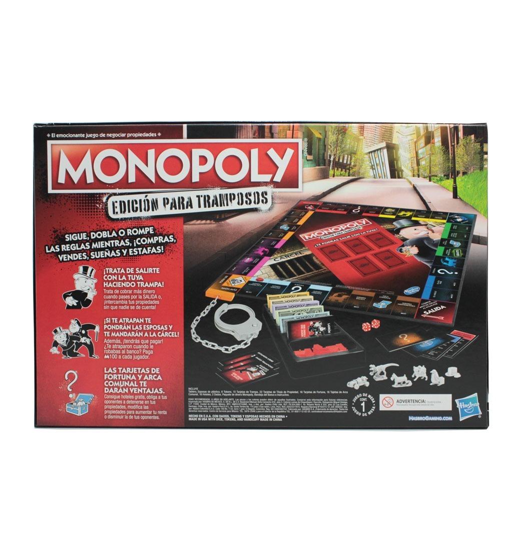 Juego De Mesa Monopoly Edicion Para Tramposos Hasbro E1871