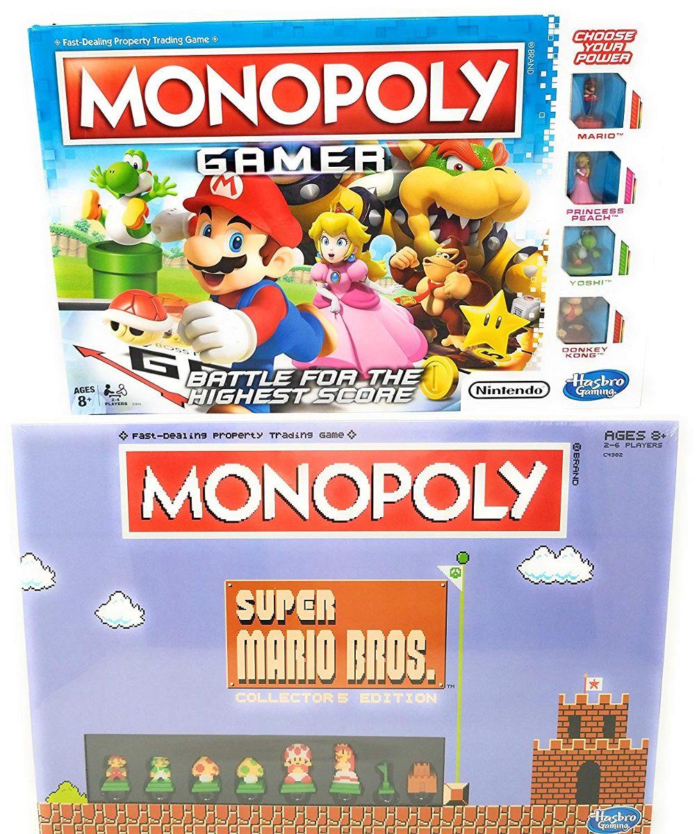 Juego De Mesa Monopoly Gamer Y Super Mario Bros Collector