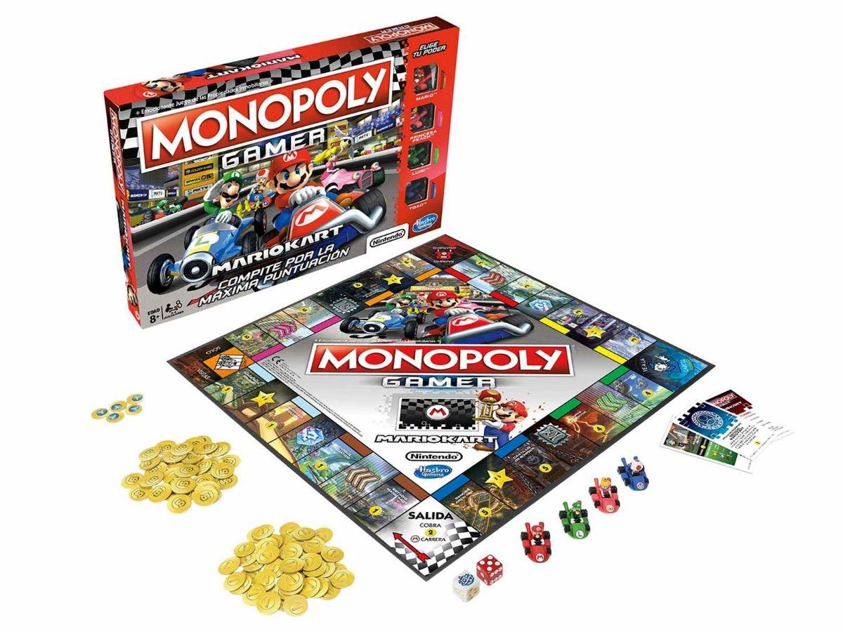 Juego De Mesa Monopoly Hasbro Mario Kart Espanol 950 00 En