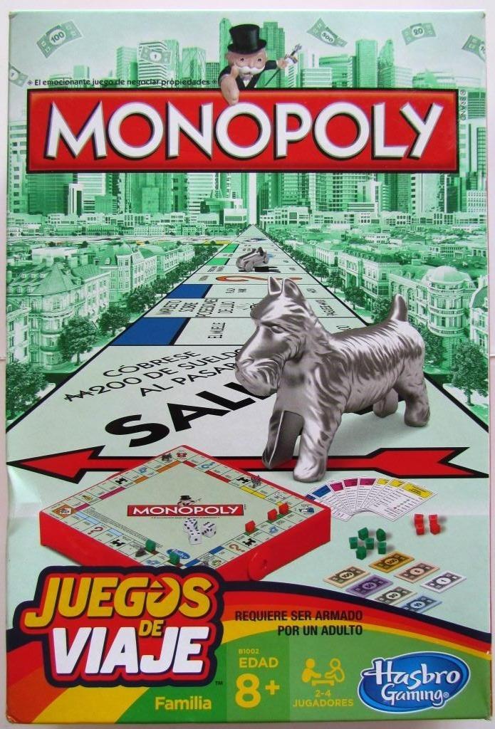 Juego De Mesa Monopoly Portatil Juego De Viaje Hasbro 5 900