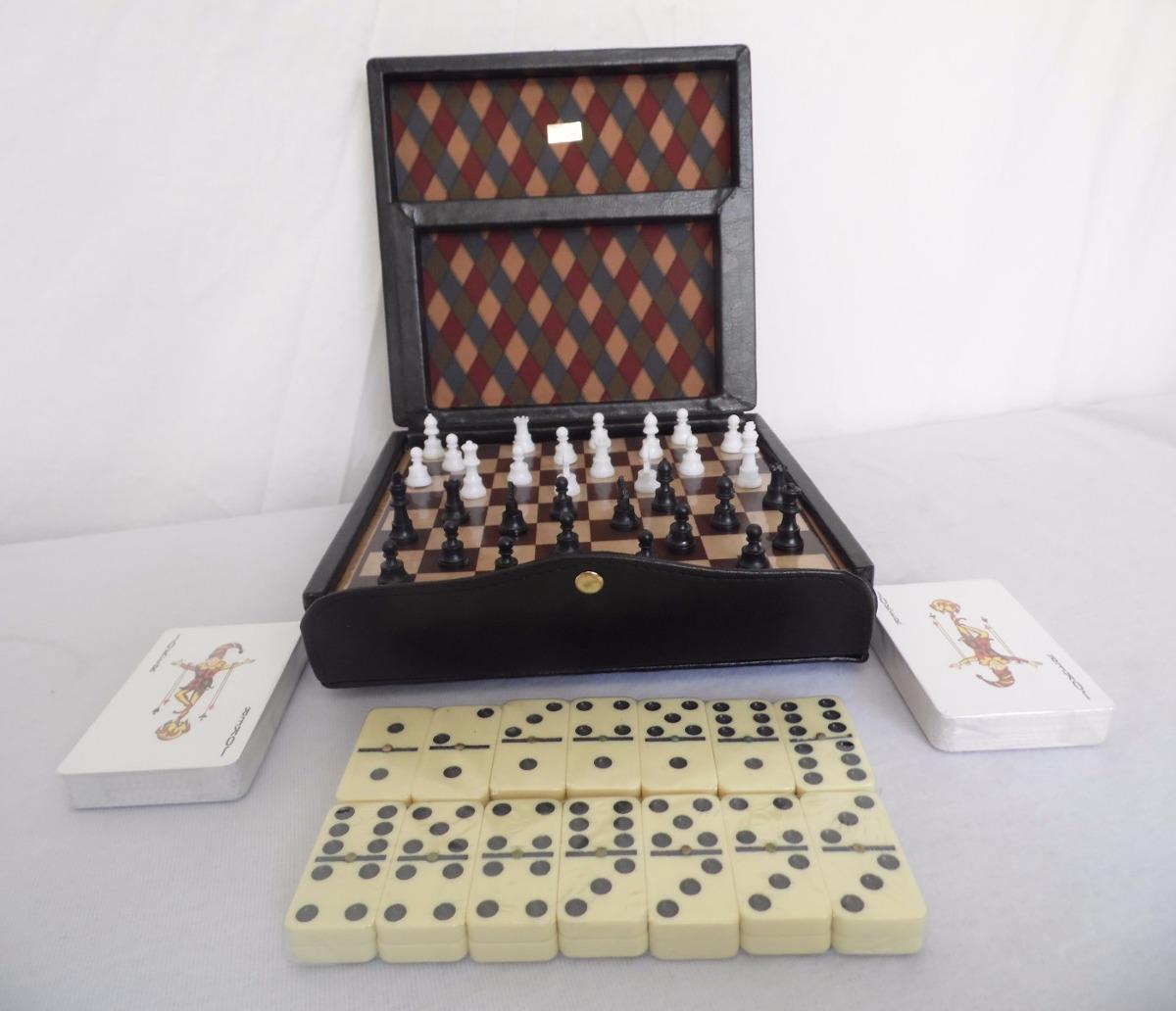 Juego De Mesa Multi Kit Ajedrez Domino Barajas 549 00 En Mercado