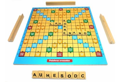 juego de mesa palabras cruzadas gordillo en madera scrabble