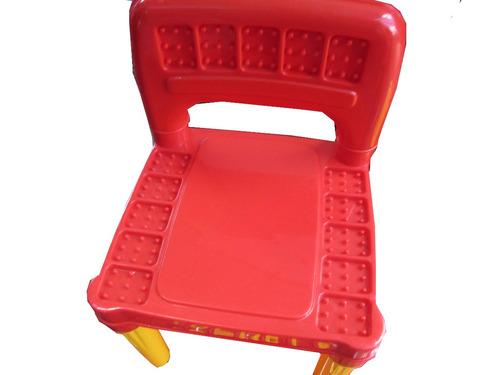 juego de mesa para niños c/ sillas y letras manipulables