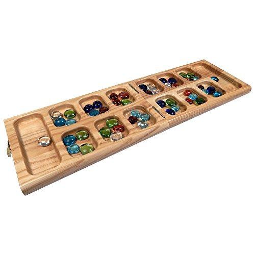 juego de mesa plegable de madera de roble vicente mancala -