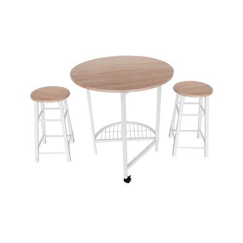 juego de mesa plegable madera con 2 bancos namaro design