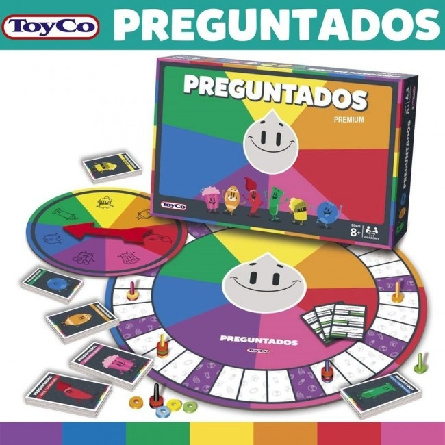 Juego De Mesa Preguntados Premium 8 Anos Con Ruleta Cartas 720