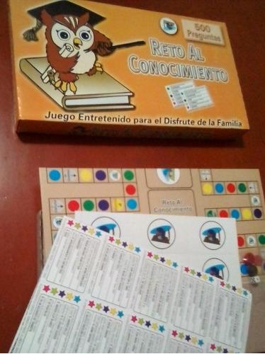 juego de mesa reto al conocimiento