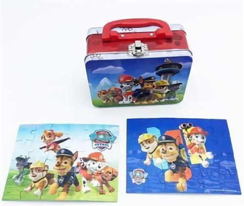 juego de mesa rompecabezas paw patrol en valija puzzles